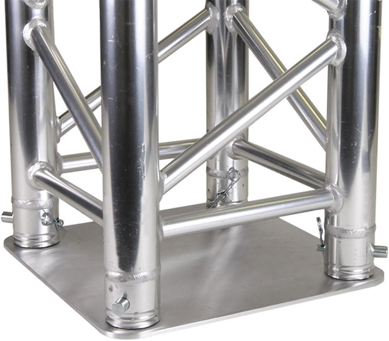 View larger image of Global Truss SQ-4137 Base Plate for Square Truss - Aluminum