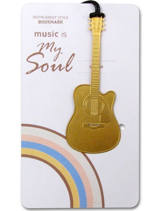 View larger image of Gold Instrument Bookmarks - Guitar