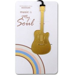 Gold Instrument Bookmarks - Guitar