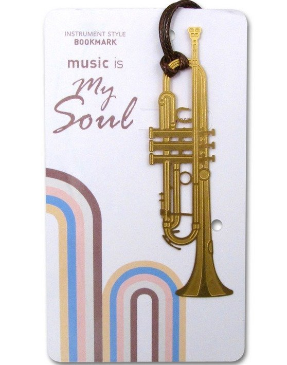 View larger image of Gold Instrument Bookmarks - Trumpet