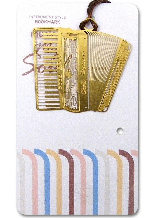View larger image of Gold Instruments Bookmark - Accordian