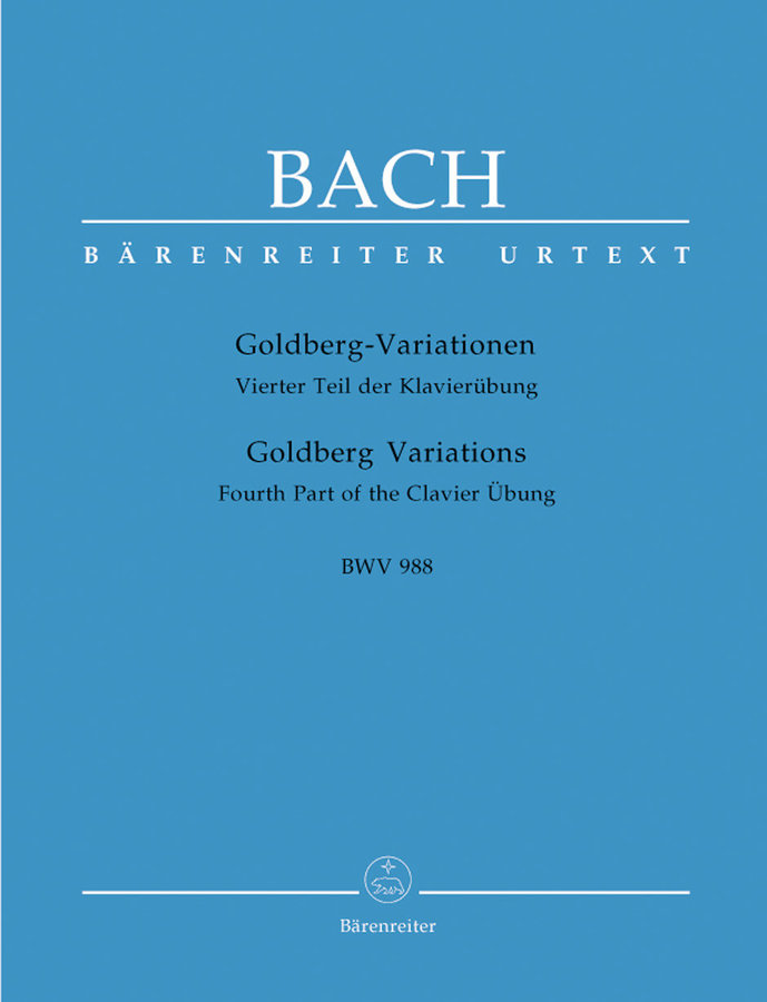 View larger image of Goldberg Variations BWV 988 -Fourth Part of the Clavier Übung - Bach