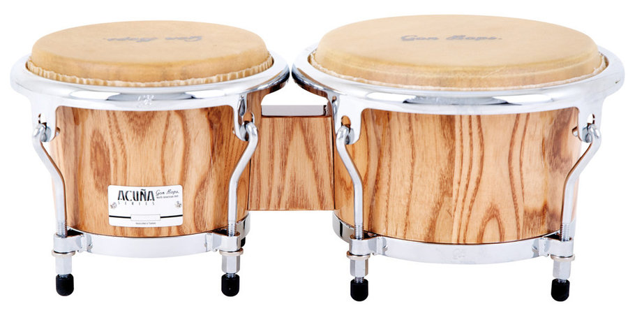 View larger image of Gon Bopa AA07885N Alex Acuna Bongos - 7/8.5, Natural Lacquer