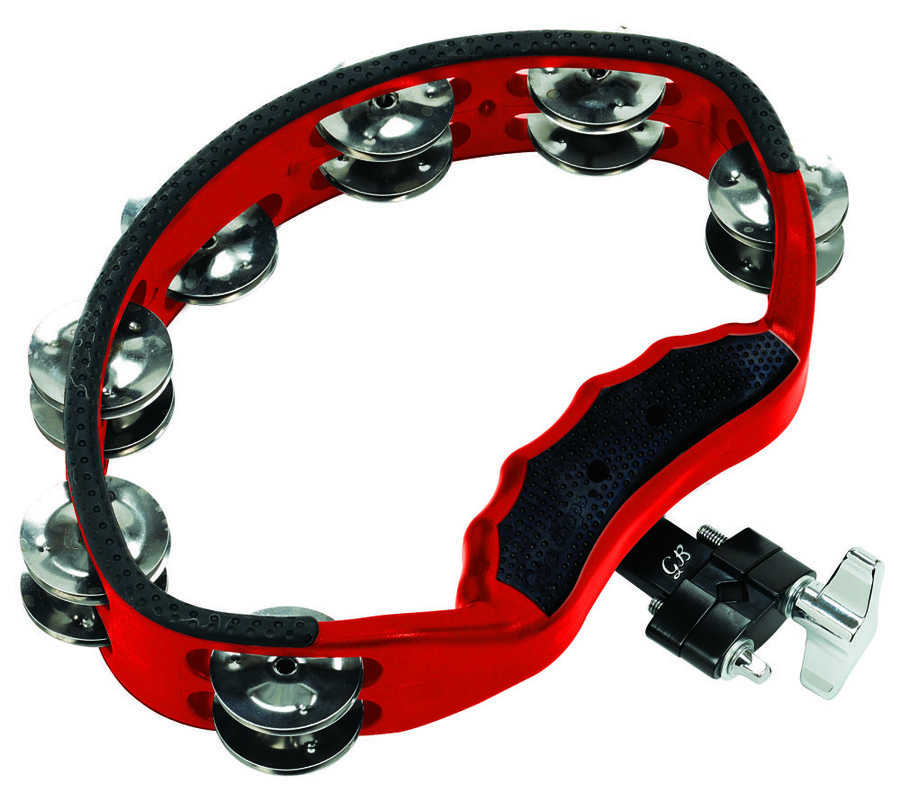 View larger image of Gon Bops PTAM10 Red Tambourine with Mount