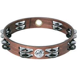 Gon Bops PTAMW2 Double-Row Stainless Steel Jingle Tambourine