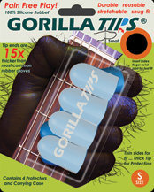View larger image of Gorilla Tips GT101CLR Fingertip Protectors - Small
