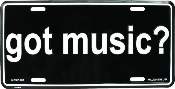 View larger image of Got Music? License Plate