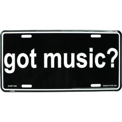 Got Music? License Plate