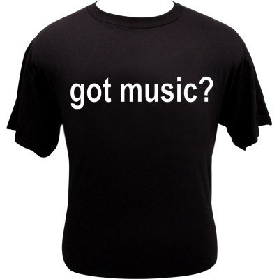 View larger image of Got Music T-Shirt - Black - Medium