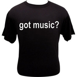 Got Music T-Shirt - Black - XL