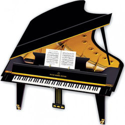 Grand Piano 3D Greeting Card