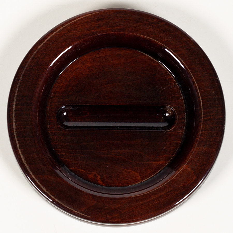 View larger image of Grand Piano Caster Cup - Mahogany