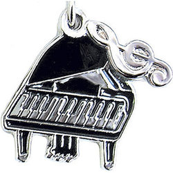 Grand Piano Charm/Zipper Pull