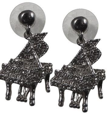 View larger image of Grand Piano Crystal Earrings - Clear/Silver