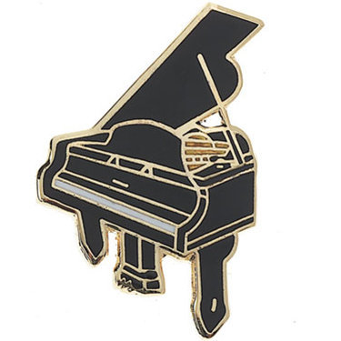 View larger image of Grand Piano Keychain - Black