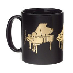Grand Piano Mug - Black/Gold