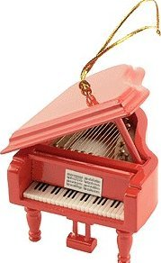 View larger image of Grand Piano Ornament - Red, 3-1/2