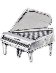 View larger image of Grand Piano Silver Charm
