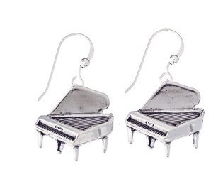 View larger image of Grand Piano Sterling Silver Earrings