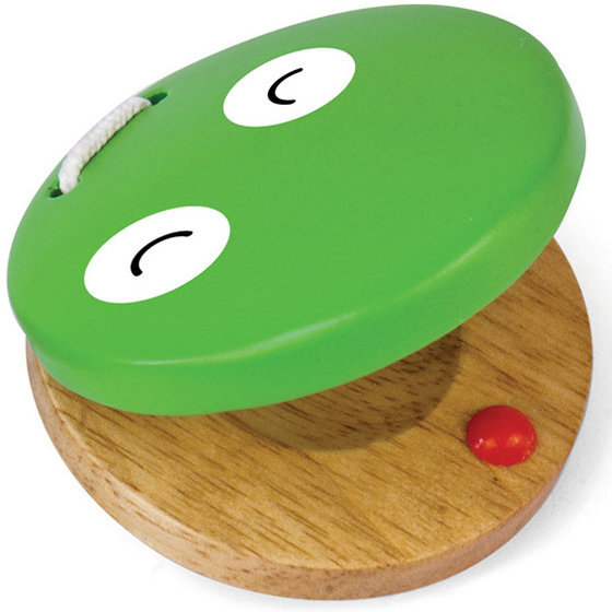 View larger image of Green Tones Frog Castanet