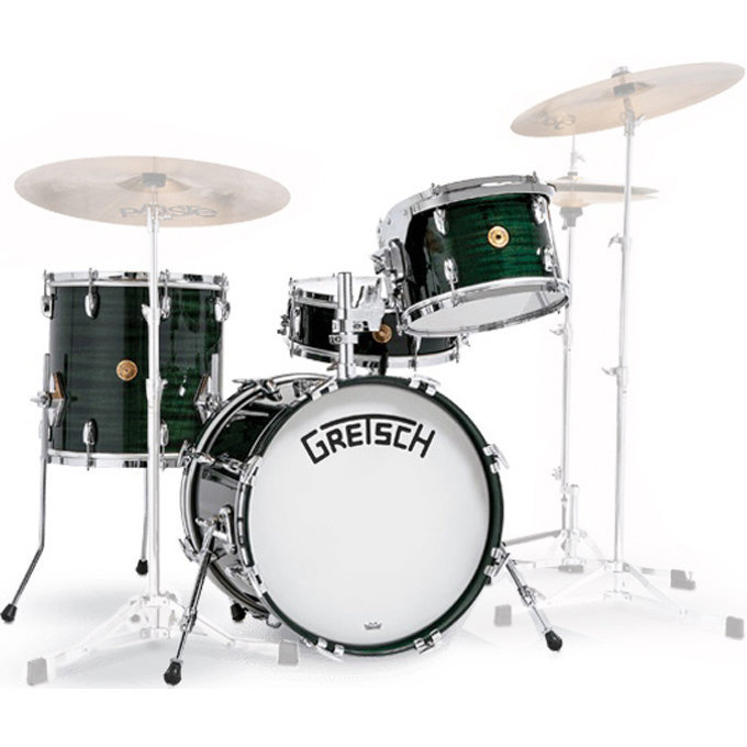 View larger image of Gretsch 135th Anniversary Limited Edition 4-Piece Shell Pack - 18/14SD/14FT/12, Dark Emerald
