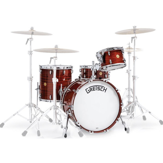 View larger image of Gretsch 135th Anniversary Limited Edition 4-Piece Shell Pack - 22/14SD/16FT/12, Classic Mahogany
