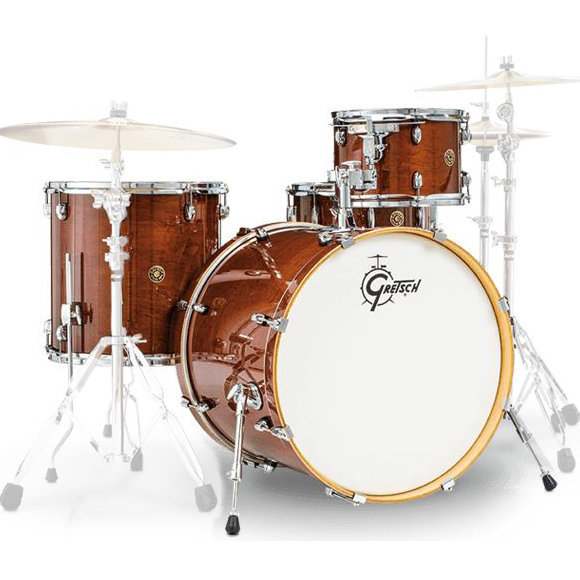 View larger image of Gretsch Catalina Maple Series 4-Piece Shell Pack - 22/14SD/16FT/12, Walnut Glaze