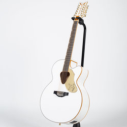 Gretsch G5022CWFE Rancher Falcon Jumbo 12-String Acoustic-Electric Guitar - Rosewood, White