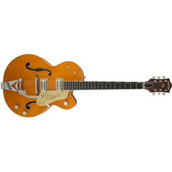 Gretsch G6120T-59 Vintage Select Edition '59 Chet Atkins Electric Guitar - Ebony, Vintage Orange Stain