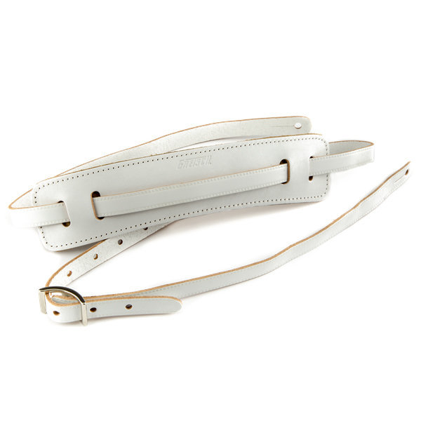 View larger image of Gretsch Vintage Leather Guitar Strap - Vintage White