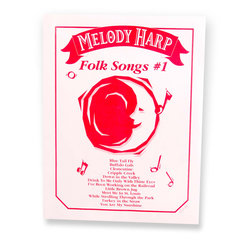 Grover Melody Harp Songcards - Folk Songs #1