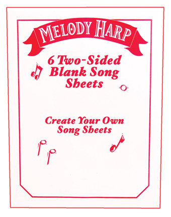 View larger image of Grover Melody Harp Songcards - Manuscript Packet