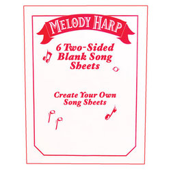 Grover Melody Harp Songcards - Manuscript Packet
