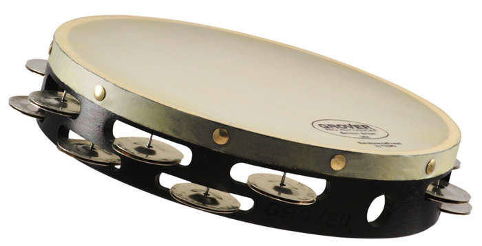 """View larger image of Grover Pro T2/GS-X German Silver Tambourine - Synthetic, 10"""""""