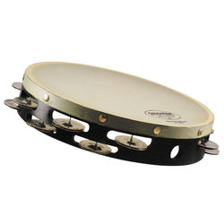 """Grover Pro T2/GS-X German Silver Tambourine - Synthetic, 10"""""""