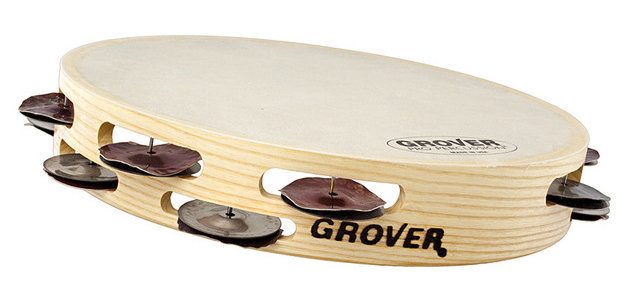 """View larger image of Grover Pro T2/HS-B Bantamweight Hybrid Silver Tambourine - 10"""""""