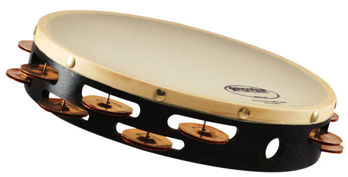 """View larger image of Grover Pro T2/HTC-X Heat-Treated Copper Tambourine - Synthetic 10"""""""