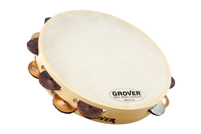 View larger image of Grover Pro T2/HTPSPh-B Bantamweight Heat-Treated Silver / Phosphor Bronze Tambourine - 10""