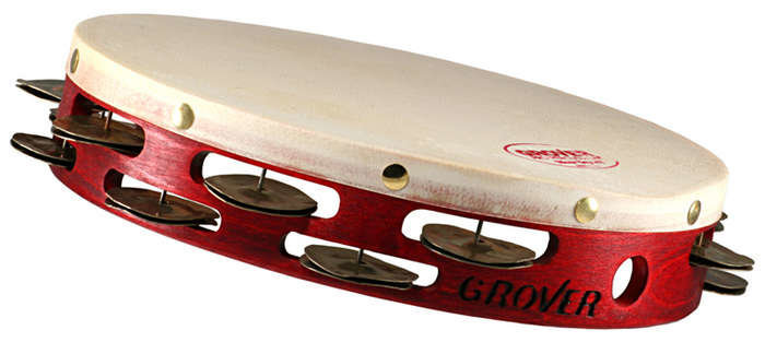 """View larger image of Grover Pro T2/HTS Heat-Treated Silver Tambourine - 10"""""""