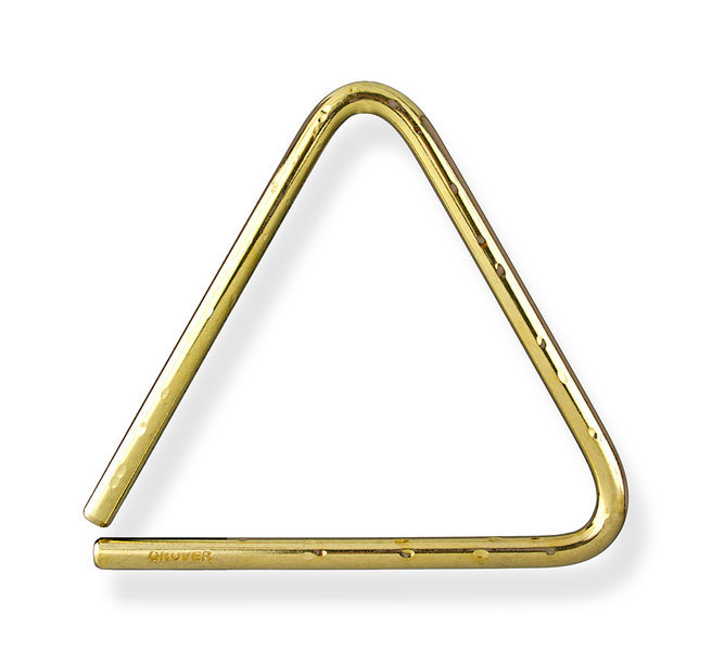 View larger image of Grover Pro TR-BHL-4 Bronze Hammered Lite Triangle - 4
