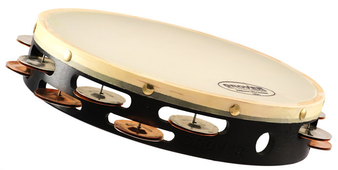 View larger image of Grover Silver/Bronze Combo Tambourine - Double Row, Synthetic, 10