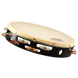 Grover Silver/Bronze Combo Tambourine - Double Row, Synthetic, 10