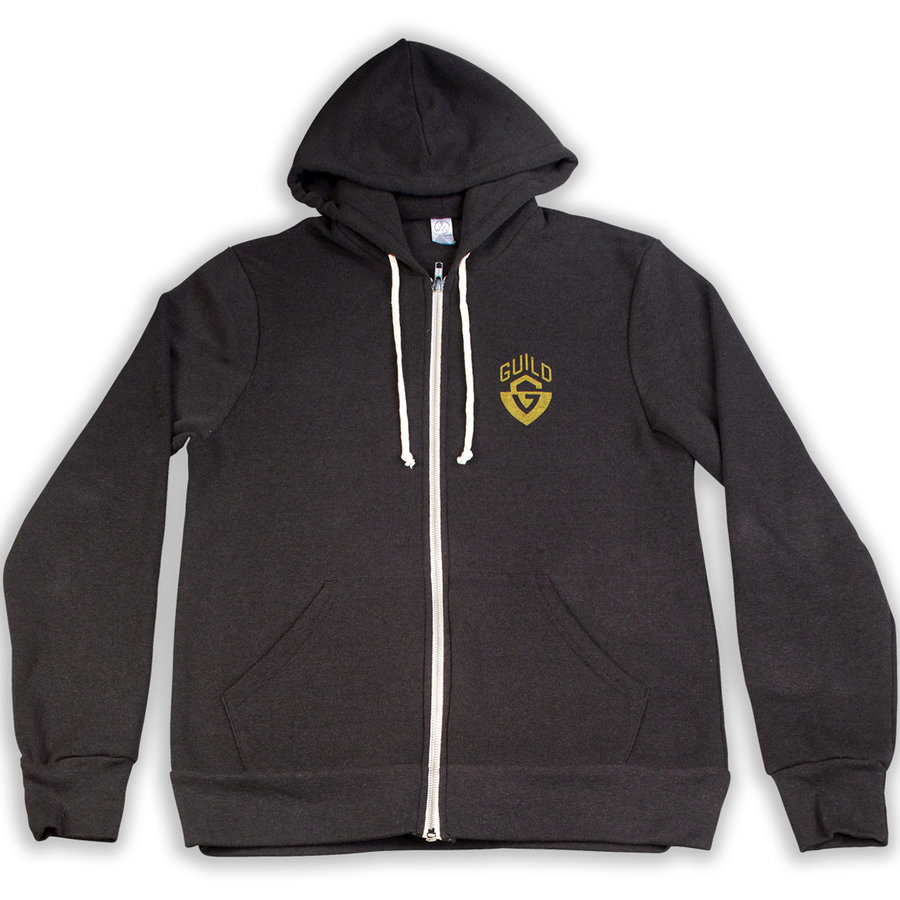 View larger image of Guild G-Shield Logo Zip Up Hoodie - Black, Small