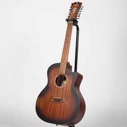 D'Angelico Premier Fulton LS 12-String Acoustic-Electric Guitar - Aged Mahogany