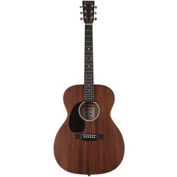 Martin 000-10E Acoustic-Electric Guitar - Natural Satin Sapele, Left