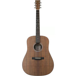 Martin D-X1E Koa Acoustic Guitar - Natural Koa, Left