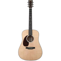 Martin D Jr-10 Acoustic Guitar - Natural Spruce, Left