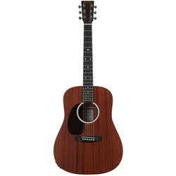 Martin D Jr-10E Acoustic-Electric Guitar - Cherry Sapele, Left