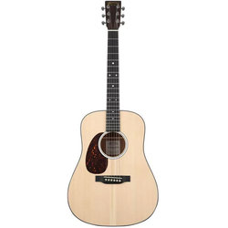 Martin D Jr-10E Acoustic-Electric Guitar - Natural Spruce, Left