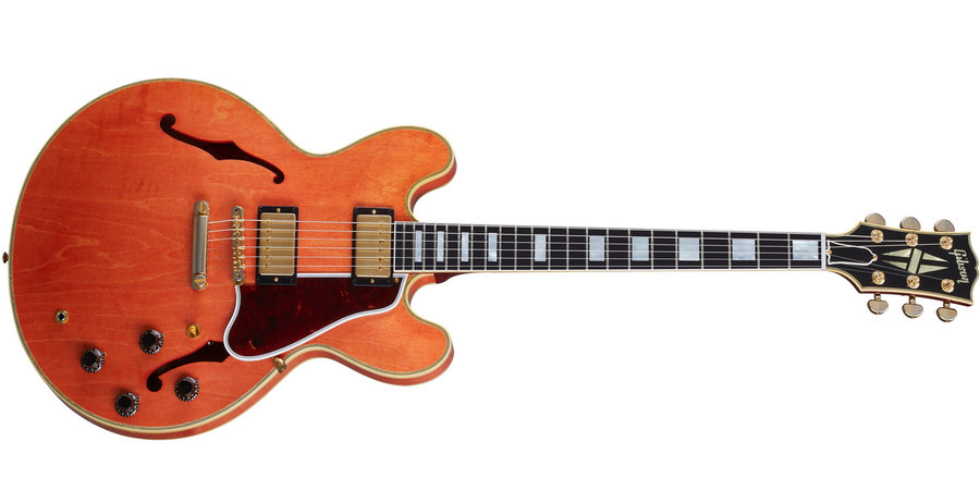 View larger image of Gibson Custom Shop Murphy Lab 1959 ES-355 Electric Guitar - Light Aged Watermelon Red
